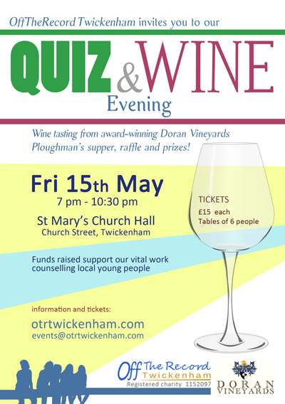 Quiz and Wine tastingevent  poster