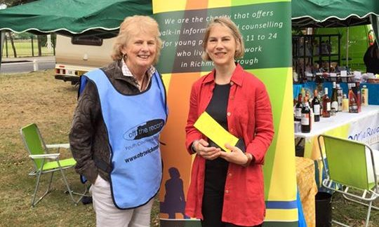 Tania Mathias with OTR Trustee Sarah Simpson