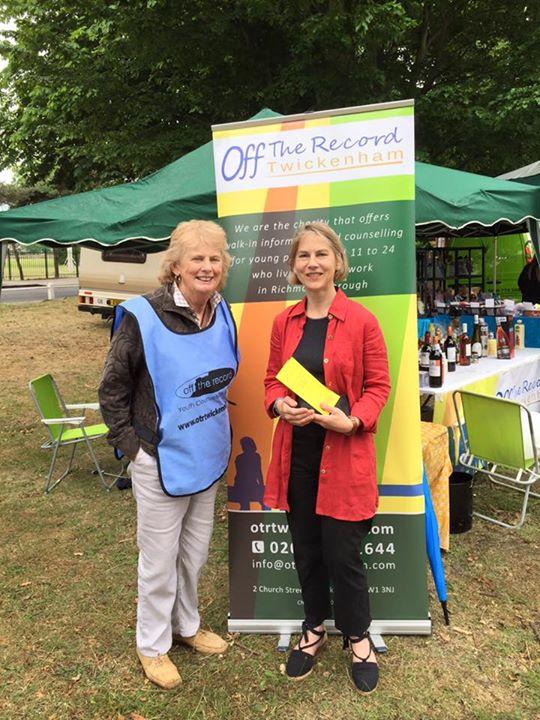 Tania Mathias with OTR Trustee Sarah Simpson