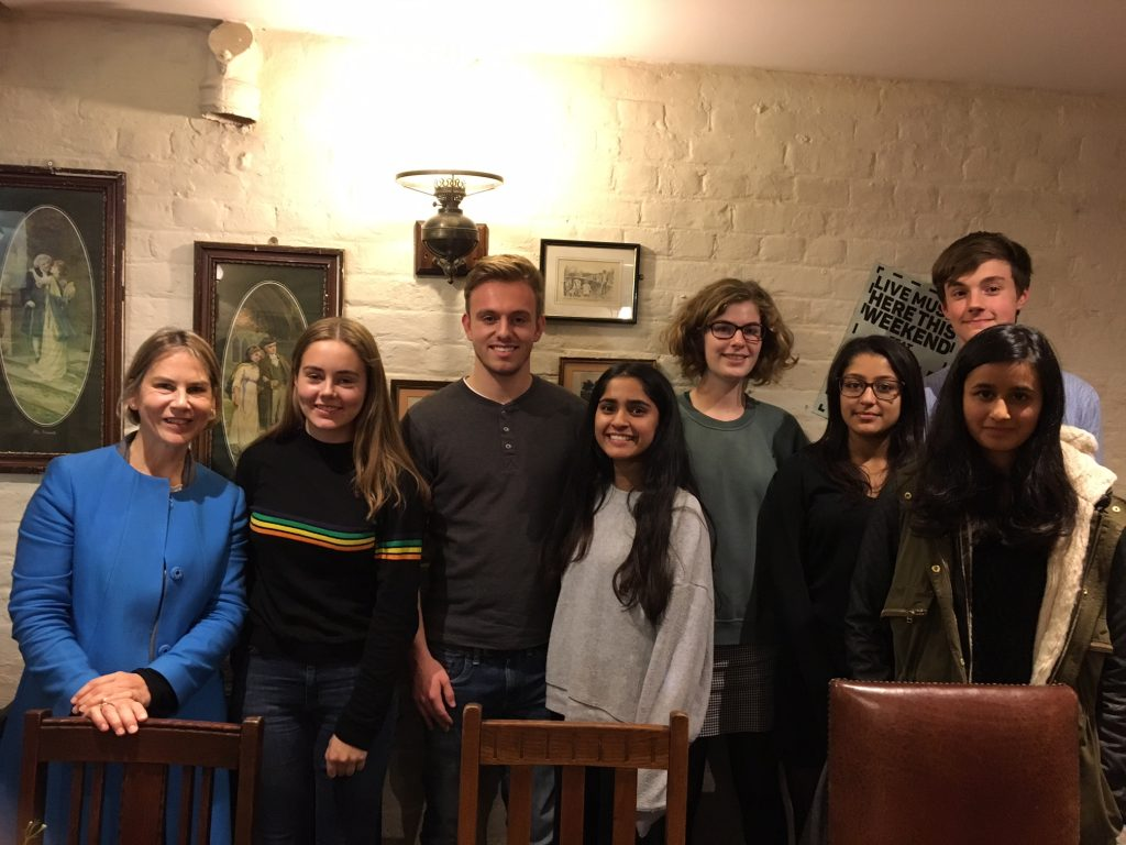 Dr Mathias MP, Freya Connor, Lewis Jones, Anurada Desilva, Isabel Castle, Tianna Patel, Zahra Bhatti, Jacob Kelly